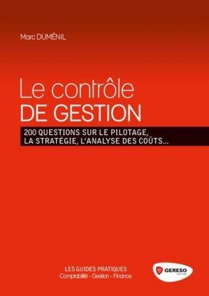 Le contrôle de gestion - gereso - 9782359532104 -