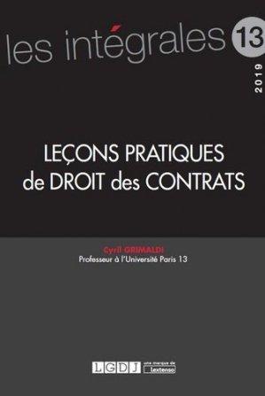 Leçons pratiques de droit des contrats - Lextenso éditions, Gazette du Palais - 9782359710113 -