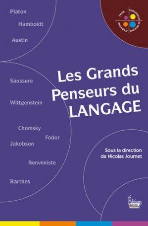 Les grands penseurs du langage - sciences humaines - 9782361065294