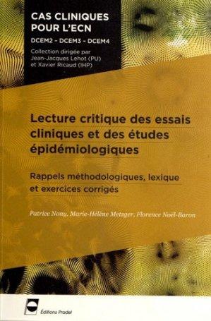 Lecture critique d'articles - pradel - 9782361100315 -