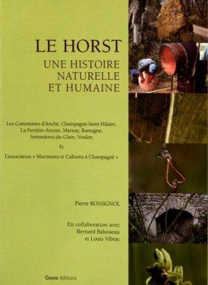 Le horst. Une histoire naturelle et humaine - geste - 9782367462622 -