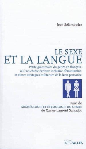 Le sexe et la langue - intervalles - 9782369560715 -