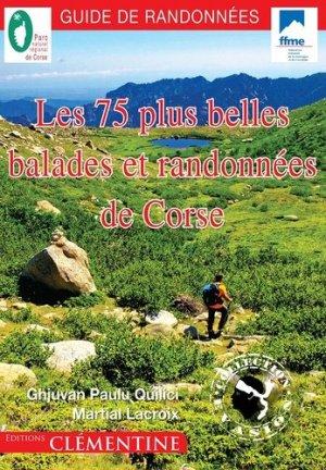 Les 75 plus belles balades et randonnees de corse - clementine - 9782370120946 -