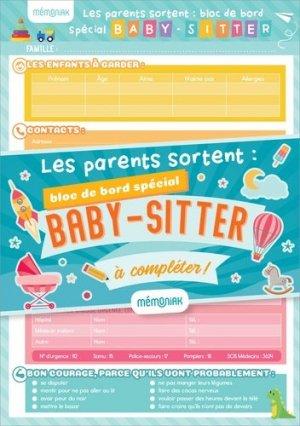 Les parents sortent : bloc de bord spécial baby-sitter à compléter ! - 365 - 9782377615841 -