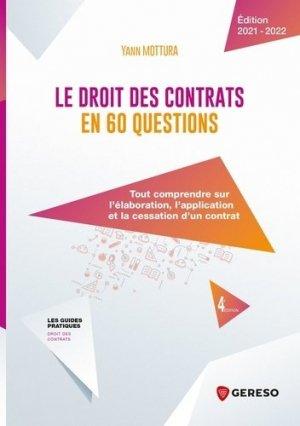 Le droit des contrats en 60 questions - gereso - 9782378906924 -