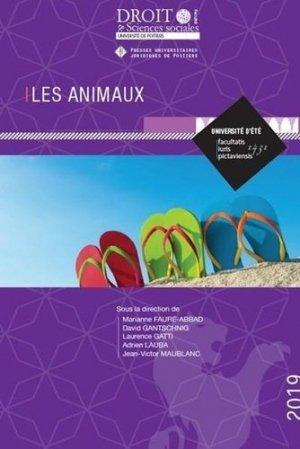 Les animaux - Presses universitaires juridiques de Poitiers - 9782381940021 -