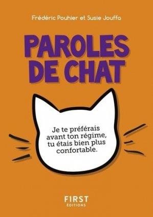 Le petit livre des paroles de chat - First - 9782412044285 -