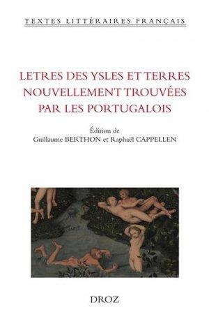Lettres des ysles et terres nouvellement trouvées par les Portugalois - Librairie Droz - 9782600062527 -