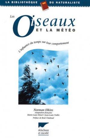 Les oiseaux et la météo - delachaux et niestle - 9782603010143 -