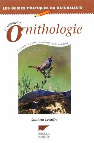 Le manuel d'ornithologie - delachaux et niestle - 9782603011874 -