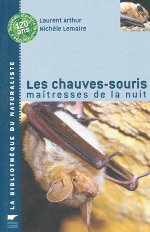 Les chauves-souris maîtresses de la nuit - delachaux et niestle - 9782603014615 -