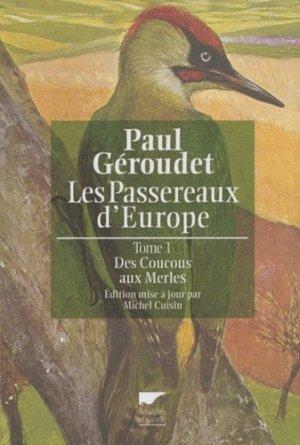 Les passereaux d'Europe Tome 1 - delachaux et niestle - 9782603017302 -