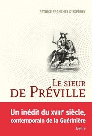 Le sieur de Préville - belin - 9782701159348 -
