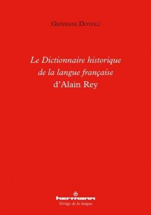 Le Dictionnaire historique de la langue française d'Alain Rey - hermann - 9782705695996 -