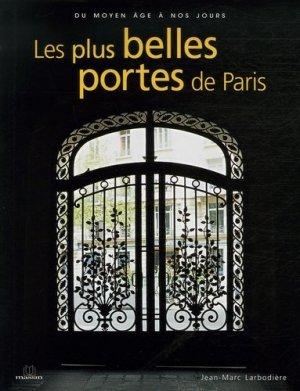 Les plus belles portes de Paris - massin - 9782707205407 -