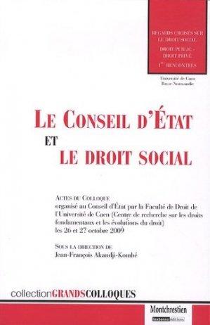 Le Conseil d'Etat et le droit social - Montchrestien - 9782707617125 -