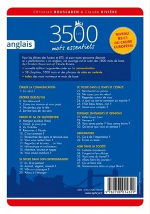 Les 3500 mots essentiels anglais - ophrys - 9782708014329 -