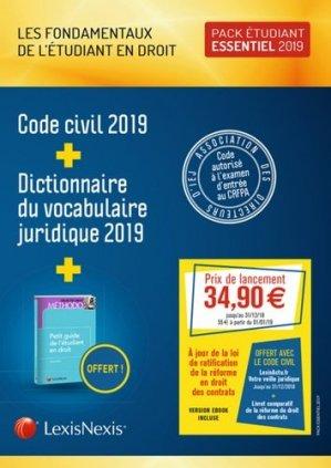 Les fondamentaux de l'étudiant en droit - Pack essentiel - lexis nexis (ex litec) - 9782711030170 -