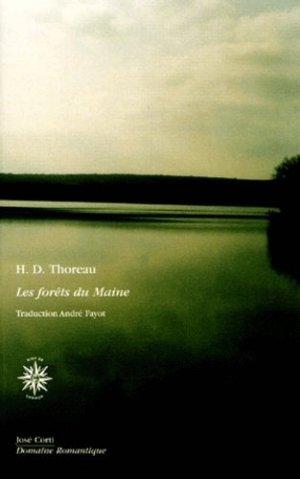 Les forêts du Maine - José Corti Editions - 9782714307644 -