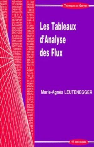 Les tableaux d'analyse des flux - Economica - 9782717839180 -