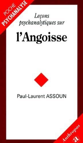 Leçons psychanalytiques sur l'angoisse - Economica - 9782717844146 -
