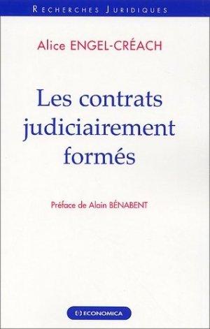Les contrats judiciairement formés - Economica - 9782717845211 -