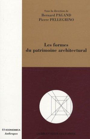 Les formes du patrimoine architectural - Economica - 9782717857726 -