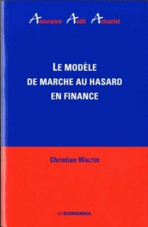 Le modèle de marche au hasard en finance - Economica - 9782717860702 -