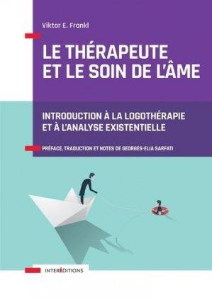 Le thérapeute et le soin de l'âme - intereditions - 9782729619985 -