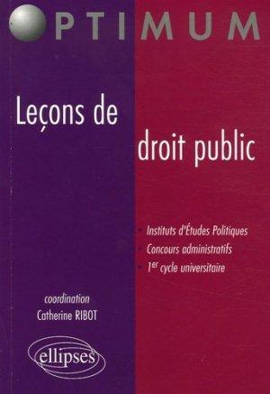 Leçons de droit public - Ellipses - 9782729825751 -