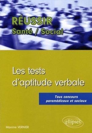 Les tests d'aptitude verbale - ellipses - 9782729838966 -