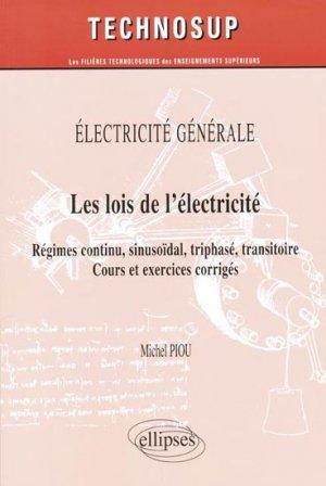 Les lois de l'électricité - ellipses - 9782729855970 -