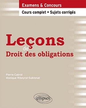 Leçons de Droit des obligations - Ellipses - 9782729866297 -