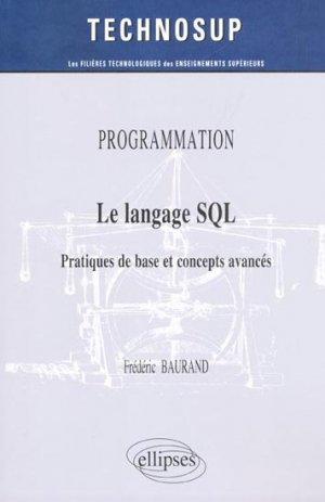 Le langage SQL - ellipses - 9782729870805 -