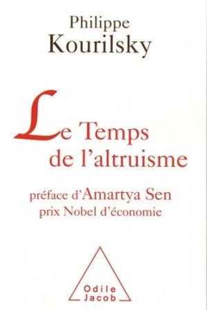 Le Temps de l'altruisme - odile jacob - 9782738123619 -