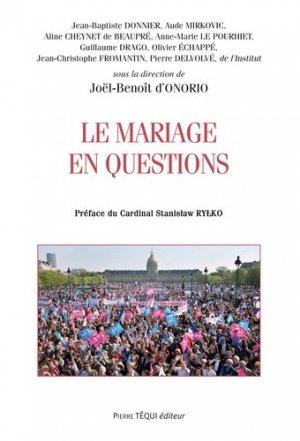 Le mariage en questions - Pierre Téqui (Editions) - 9782740318454 -