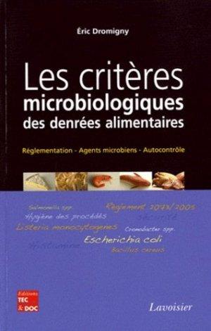 Les critères microbiologiques des denrées alimentaires - lavoisier / tec et doc - 9782743013974 -