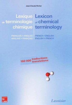 Lexique de terminologie chimique / lexicon of chemical terminology - lavoisier / tec et doc - 9782743014285 -