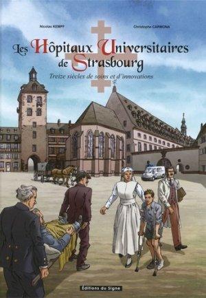 Les hôpitaux universitaires de Strasbourg en BD - du signe - 9782746837782 -