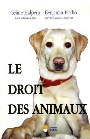 Le droit des animaux - eska - 9782747209724 -