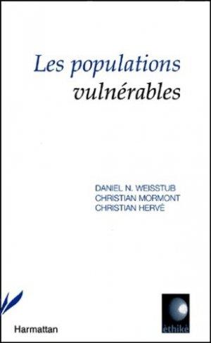 Les populations vulnérables - l'harmattan - 9782747509923 - majbook ème édition, majbook 1ère édition, livre ecn major, livre ecn, fiche ecn