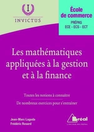 Les mathématiques appliquées à la gestion et à la finance - breal - 9782749535241