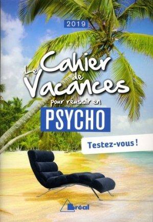 Le cahier de vacances pour réussir en 1re année de psycho - Bréal - 9782749538754 -