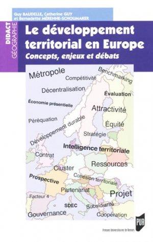 Le développement territorial en Europe - presses universitaires de rennes - 9782753514232