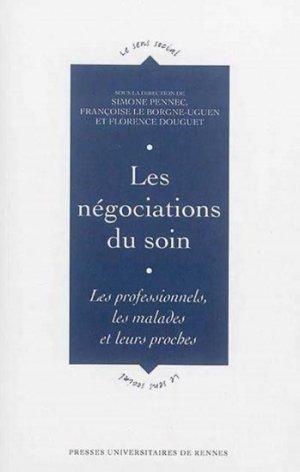Les négociations du soin - presses universitaires de rennes - 9782753533929 -