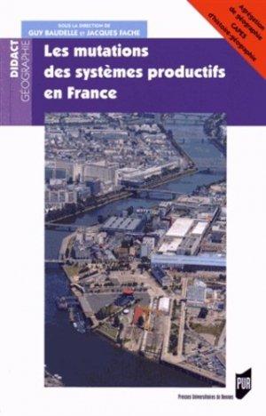 Les mutations des systèmes productifs en France - presses universitaires de rennes - 9782753535497