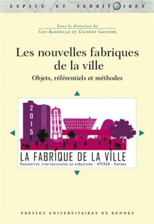 Les nouvelles fabriques de la ville - presses universitaires de rennes - 9782753573109 -