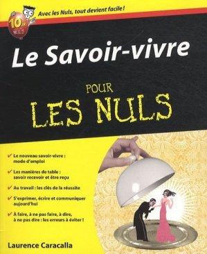 Le Savoir-vivre pour les nuls - first editions - 9782754022286 -