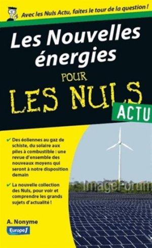 Les Nouvelles énergies pour les Nuls - first editions - 9782754052818 -