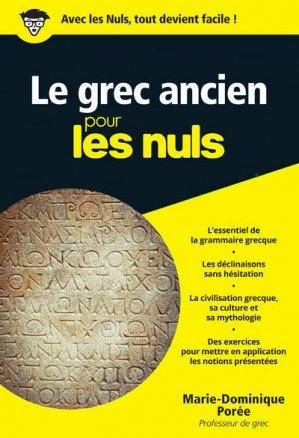 Le Grec Ancien pour les Nuls - first - 9782754088367 -